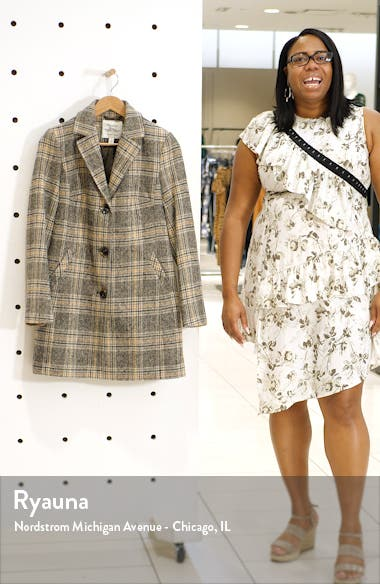 Plaid Button Front Coat, sales video thumbnail