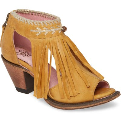 Lane Boots Archer Fringe Sandal, Yellow