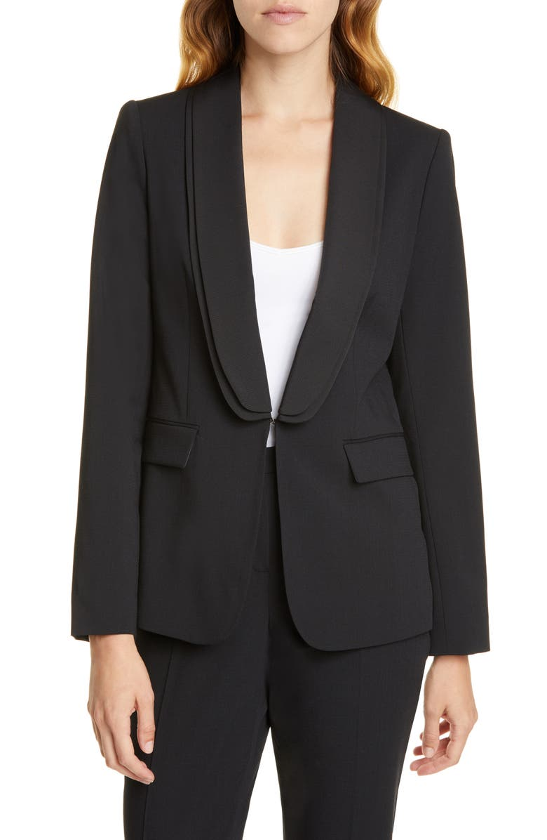 TED BAKER LONDON Ottoman Contrast Jacket, Main, color, 001