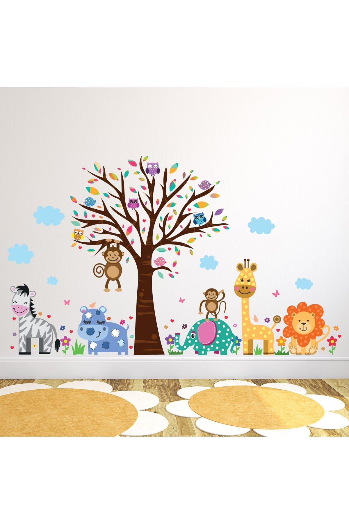 Image of WalPlus Happy London Zoo Animal Tree Kids Art Decal