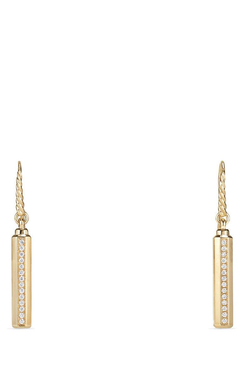DAVID YURMAN Barrels Drop Earrings with Diamonds in 18k Gold, Main, color, YELLOW GOLD