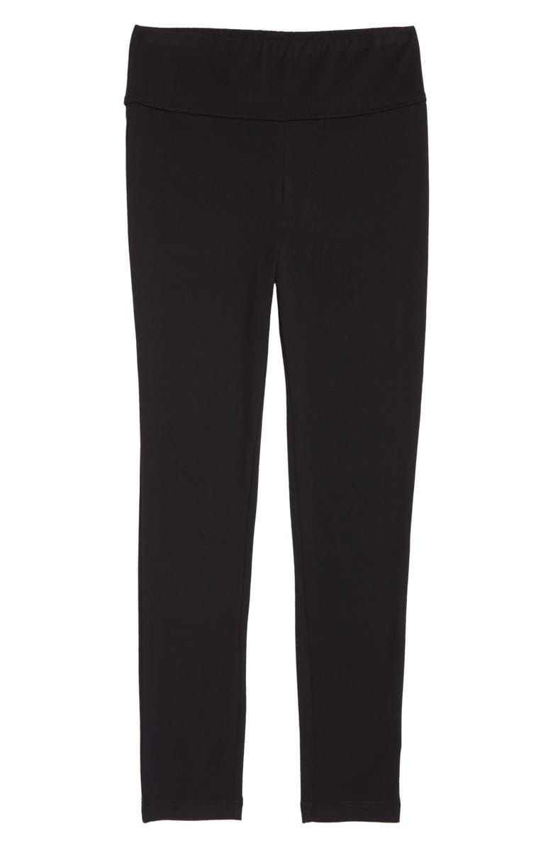 TUCKER + TATE High Waist Leggings, Main, color, BLACK