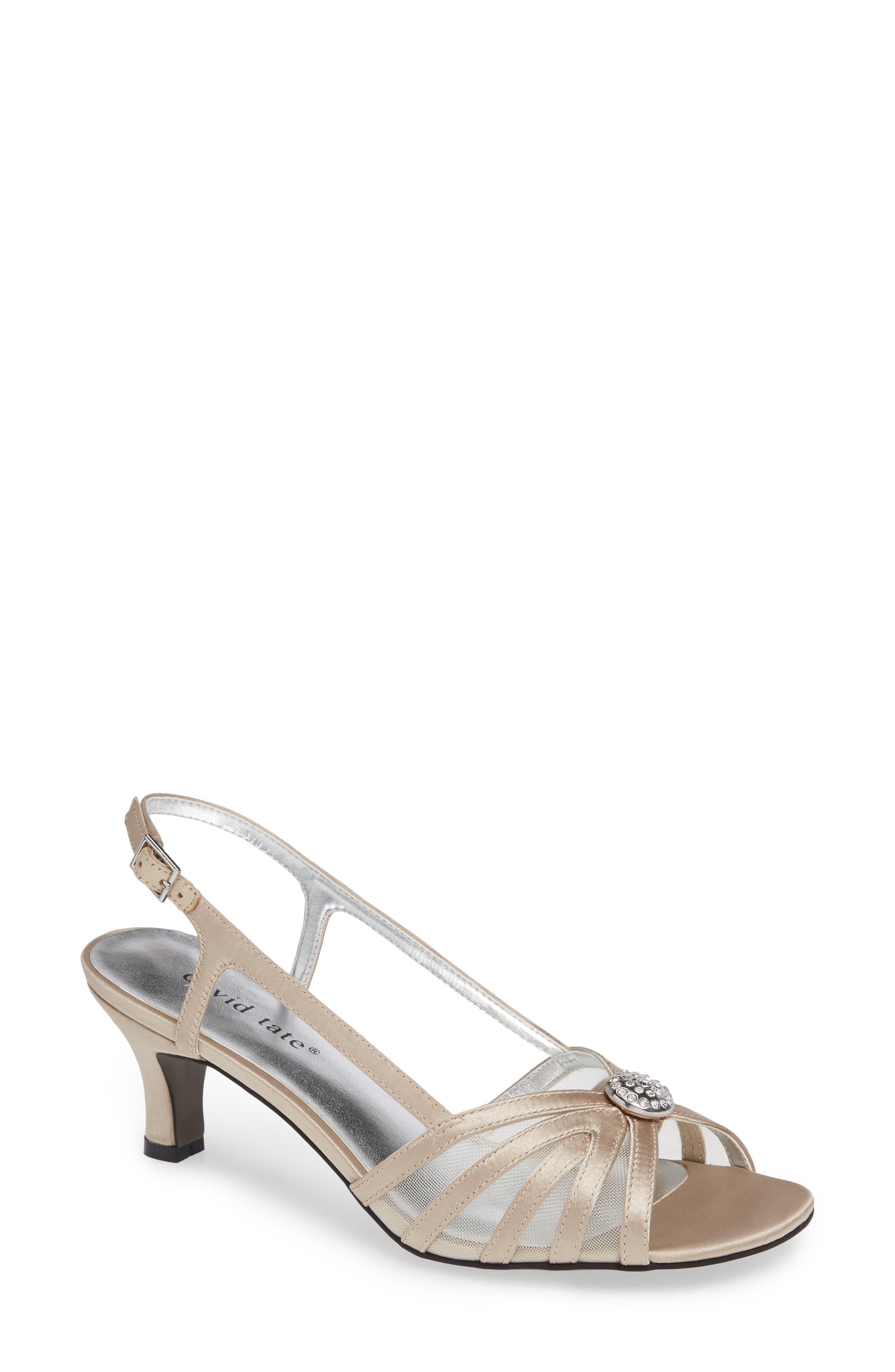 David Tate Cheer Sandal, Metallic
