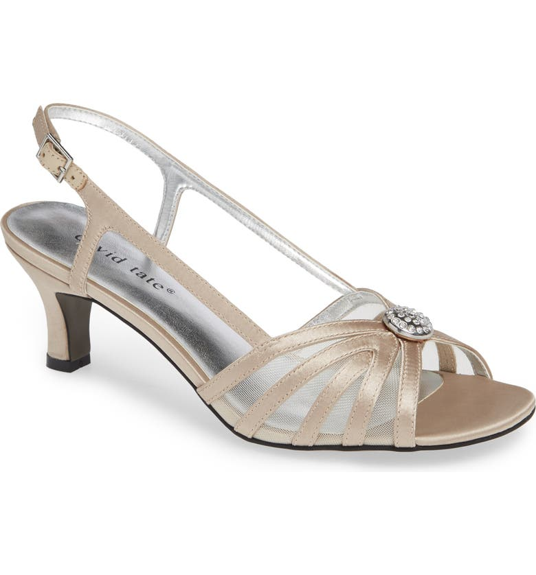 DAVID TATE Cheer Sandal, Main, color, CHAMPAGNE SATIN