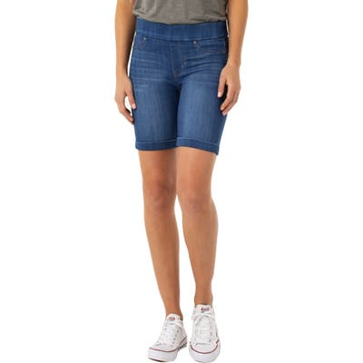 Liverpool Roxie Pull-On Shorts, Blue