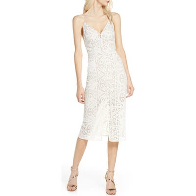 Finders Keepers Sofia Lace Cocktail Dress, Ivory