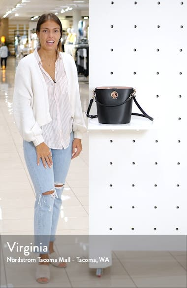 suzy small leather bucket bag, sales video thumbnail