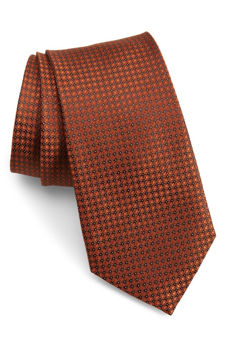 CALIBRATE Mathson Geometric Silk Tie, Main, color, 219