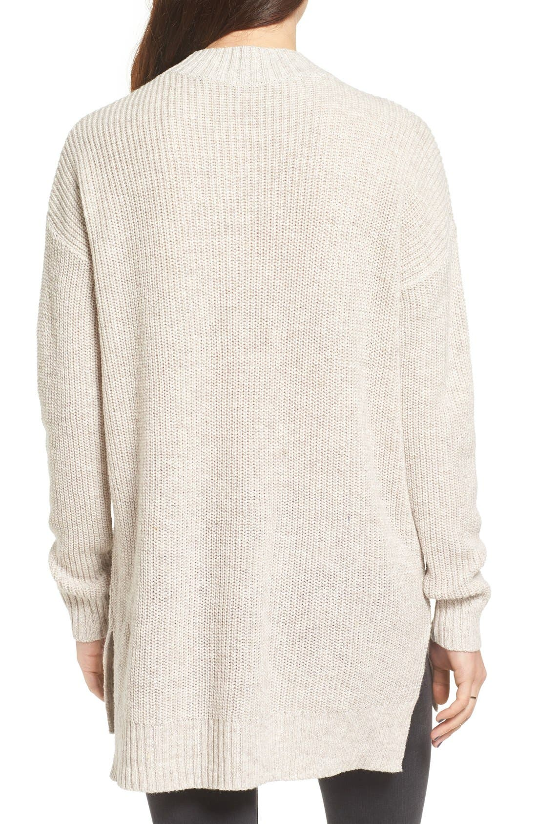 ,                             Ribbed Mock Neck Pullover,                             Alternate thumbnail 8, color,                             030