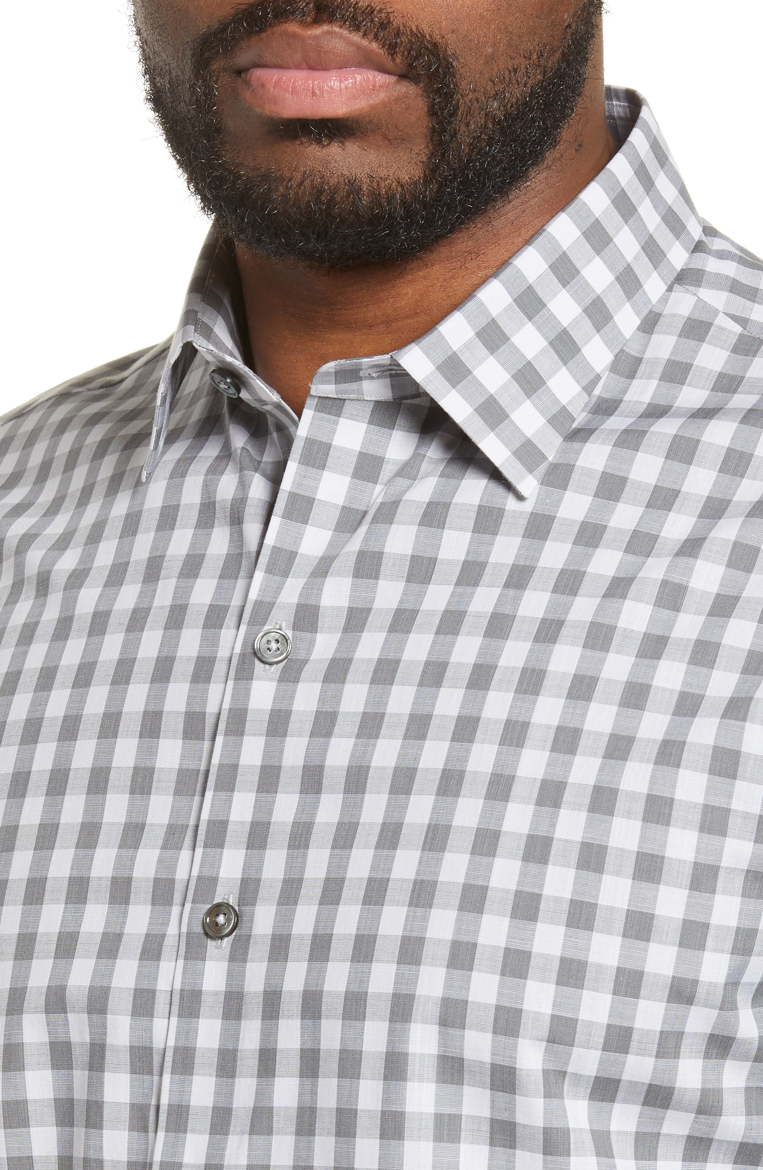 ,                             Schwantes Regular Fit Check Sport Shirt,                             Alternate thumbnail 2, color,                             GREY