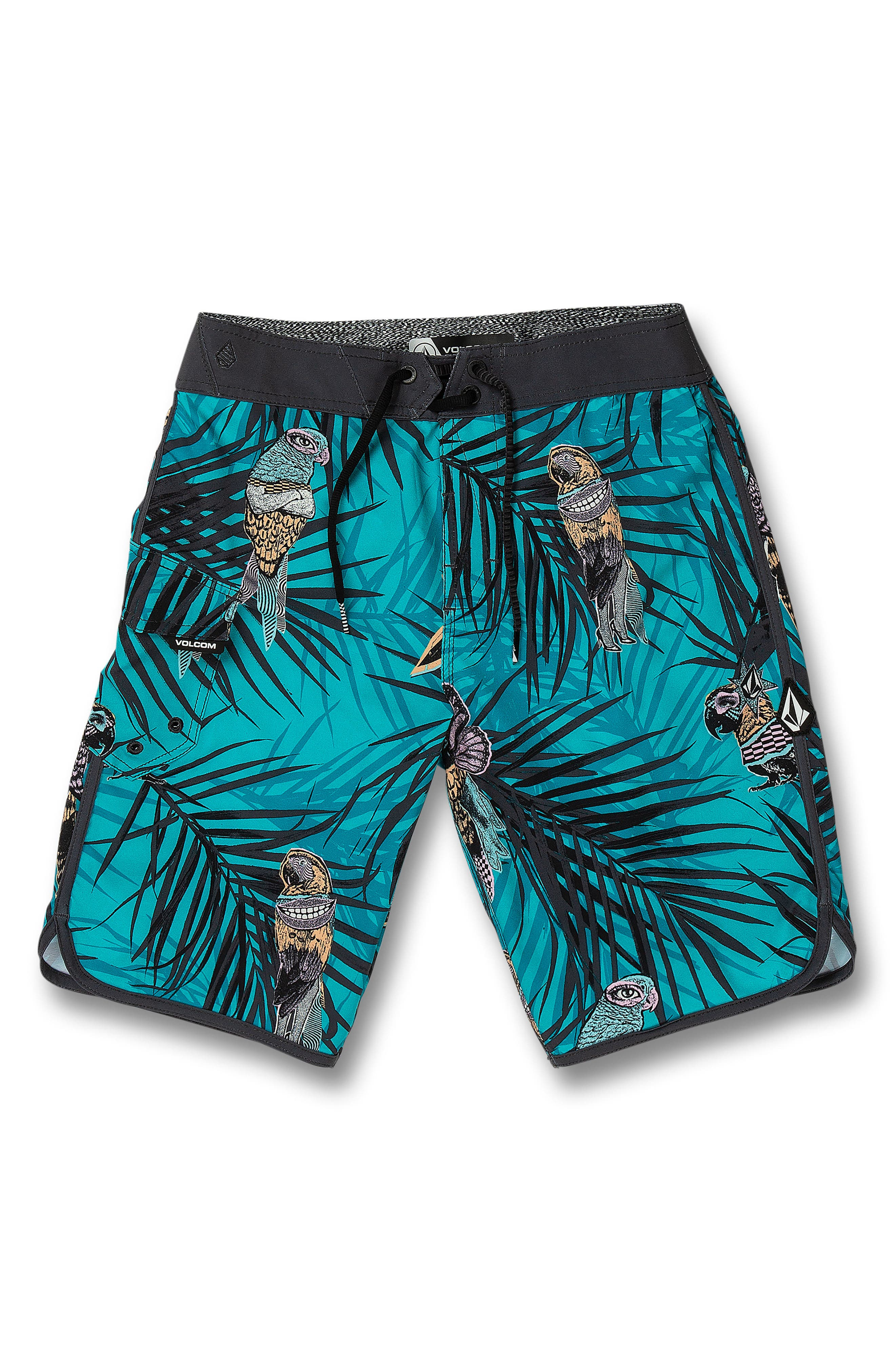 Boys Volcom Parrot Mod Board Shorts Size 23  Blue