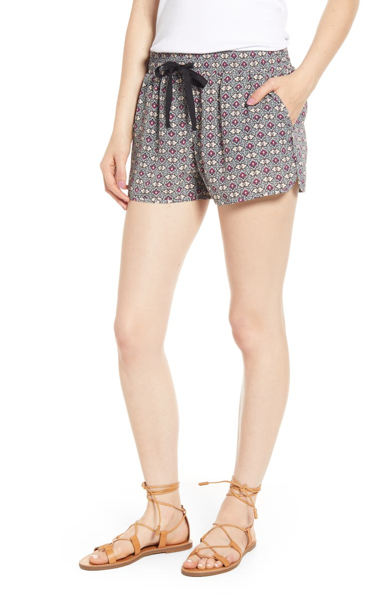 BISHOP + YOUNG Mosaic Tie Waist Shorts, Main, color, 006