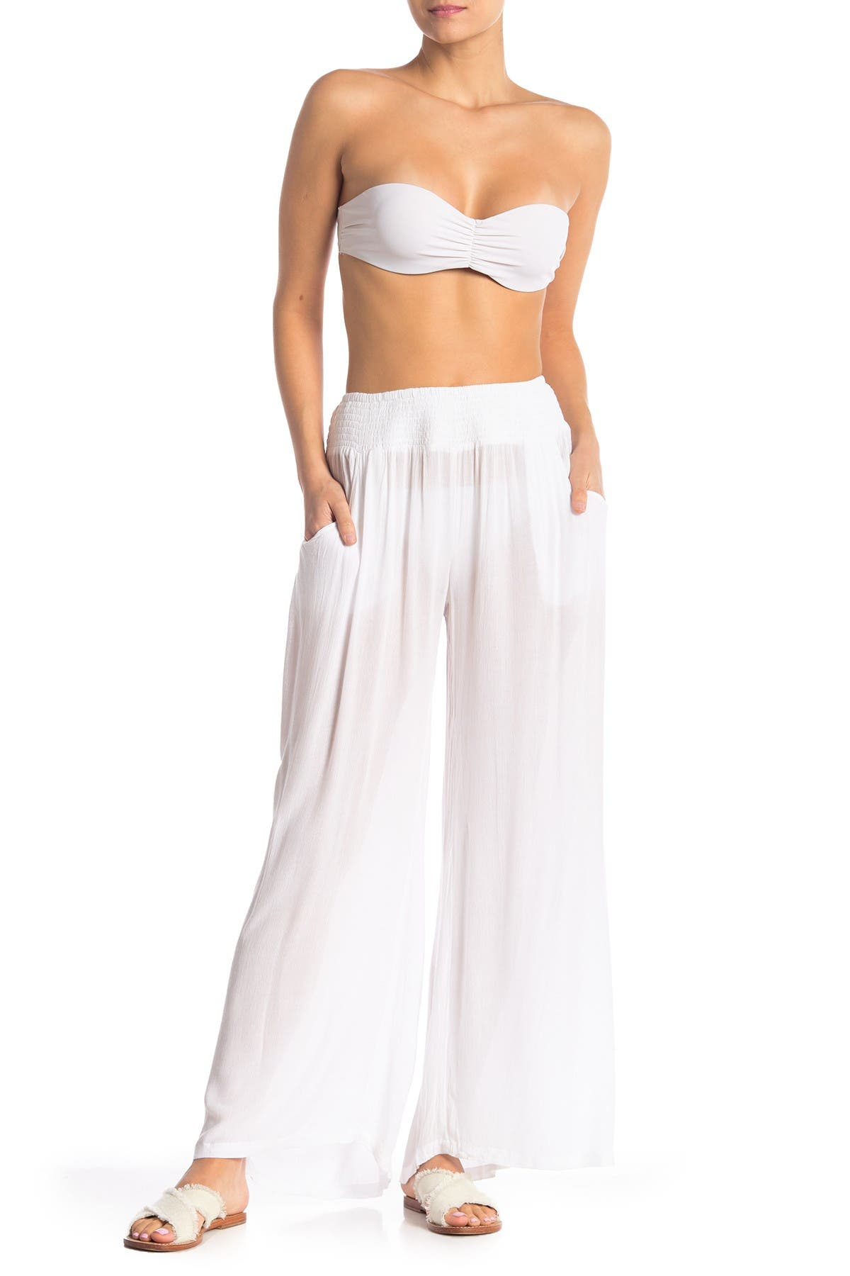 Image of ELAN Smocked Waist Cover-Up Pants