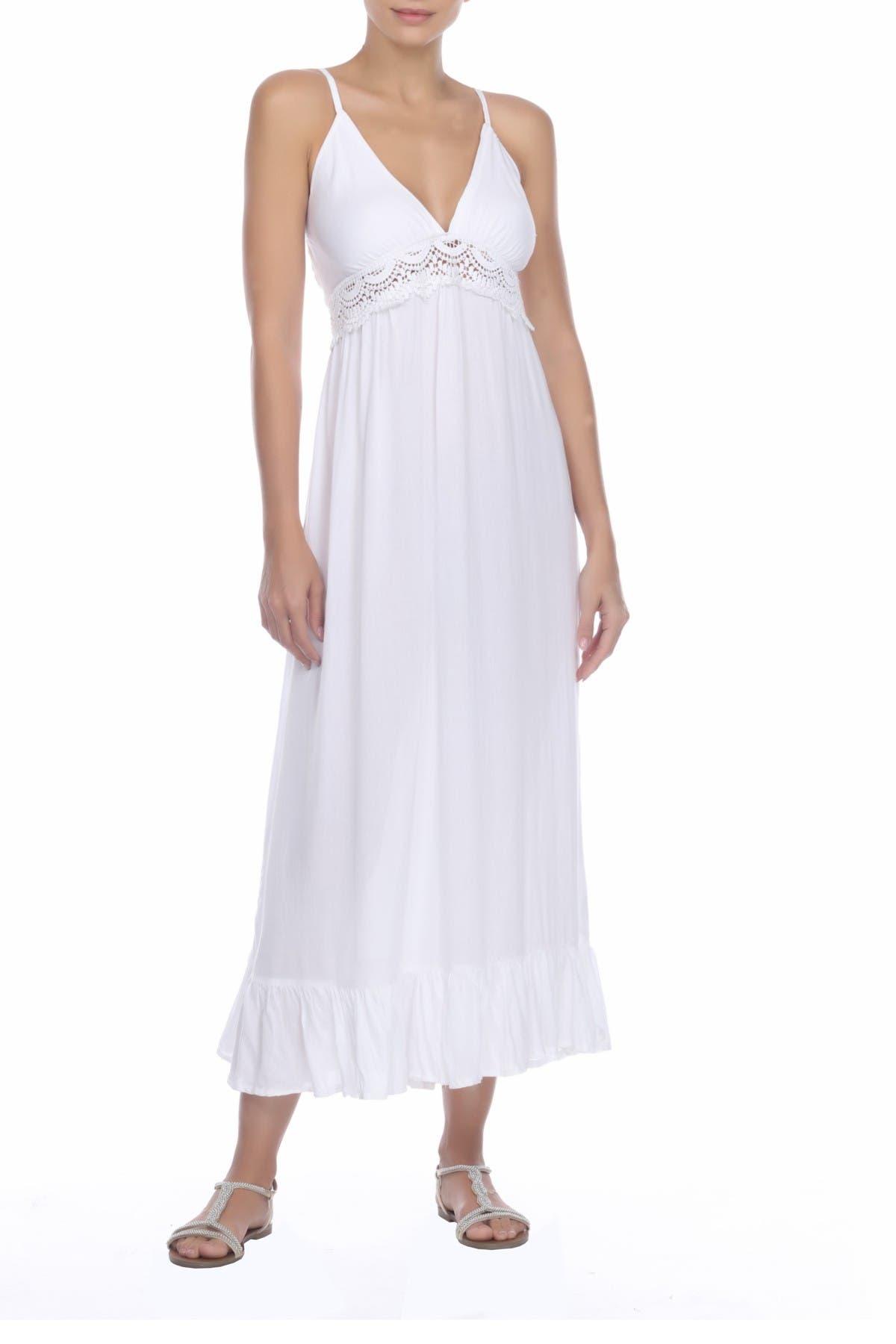 Image of BOHO ME Lace V-Neck Spaghetti Straps Maxi Dress