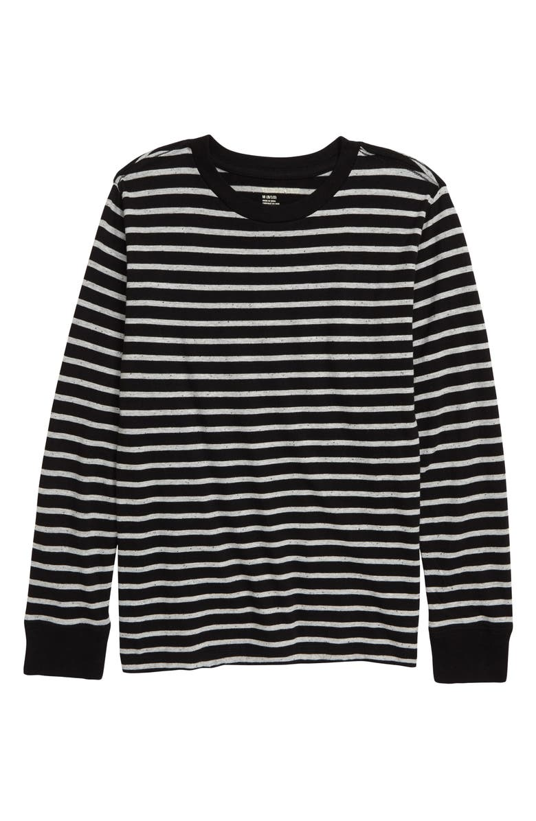 TUCKER + TATE Stalactite Stripe Shirt, Main, color, BLACK- GREY STRIPE