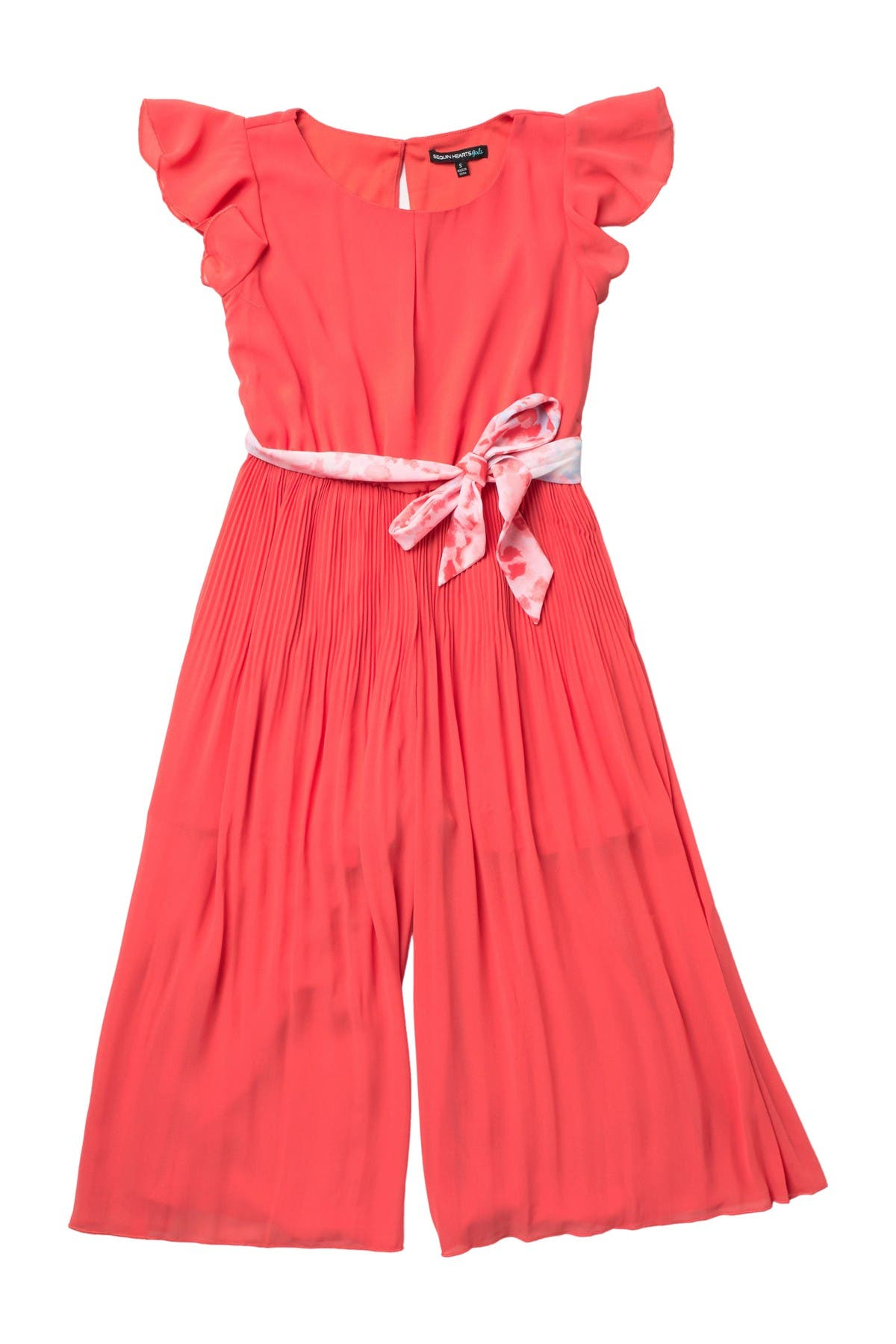 Image of mymichelle Scoop Neck Ruffled Jumpsuit