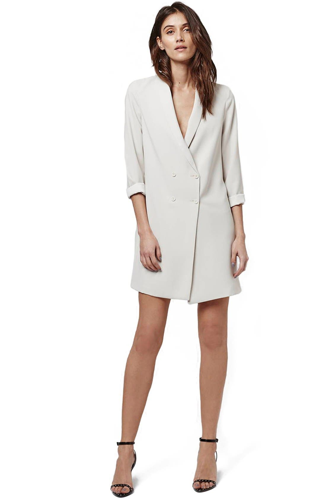 ,                             Slouchy Longline Blazer,                             Alternate thumbnail 2, color,                             100