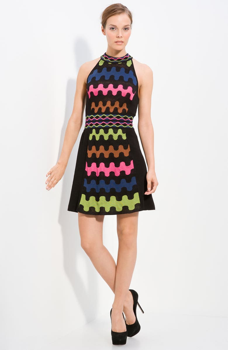 M MISSONI Puzzle Stripe Knit Dress, Main, color, 001