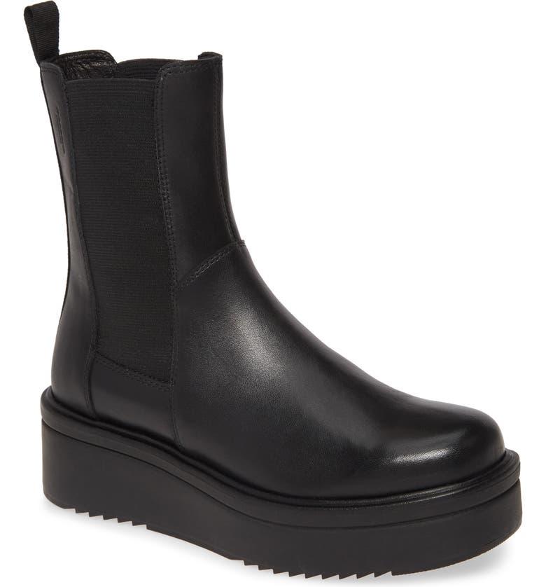 VAGABOND SHOEMAKERS Tara Chelsea Boot, Main, color, BLACK LEATHER
