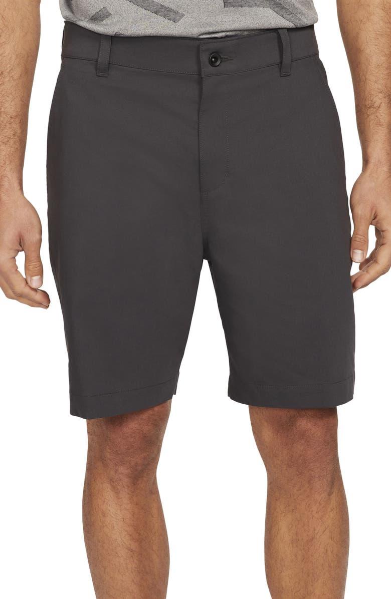 NIKE Dri-FIT UV Flat Front Chino Golf Shorts, Main, color, DARK SMOKE GREY