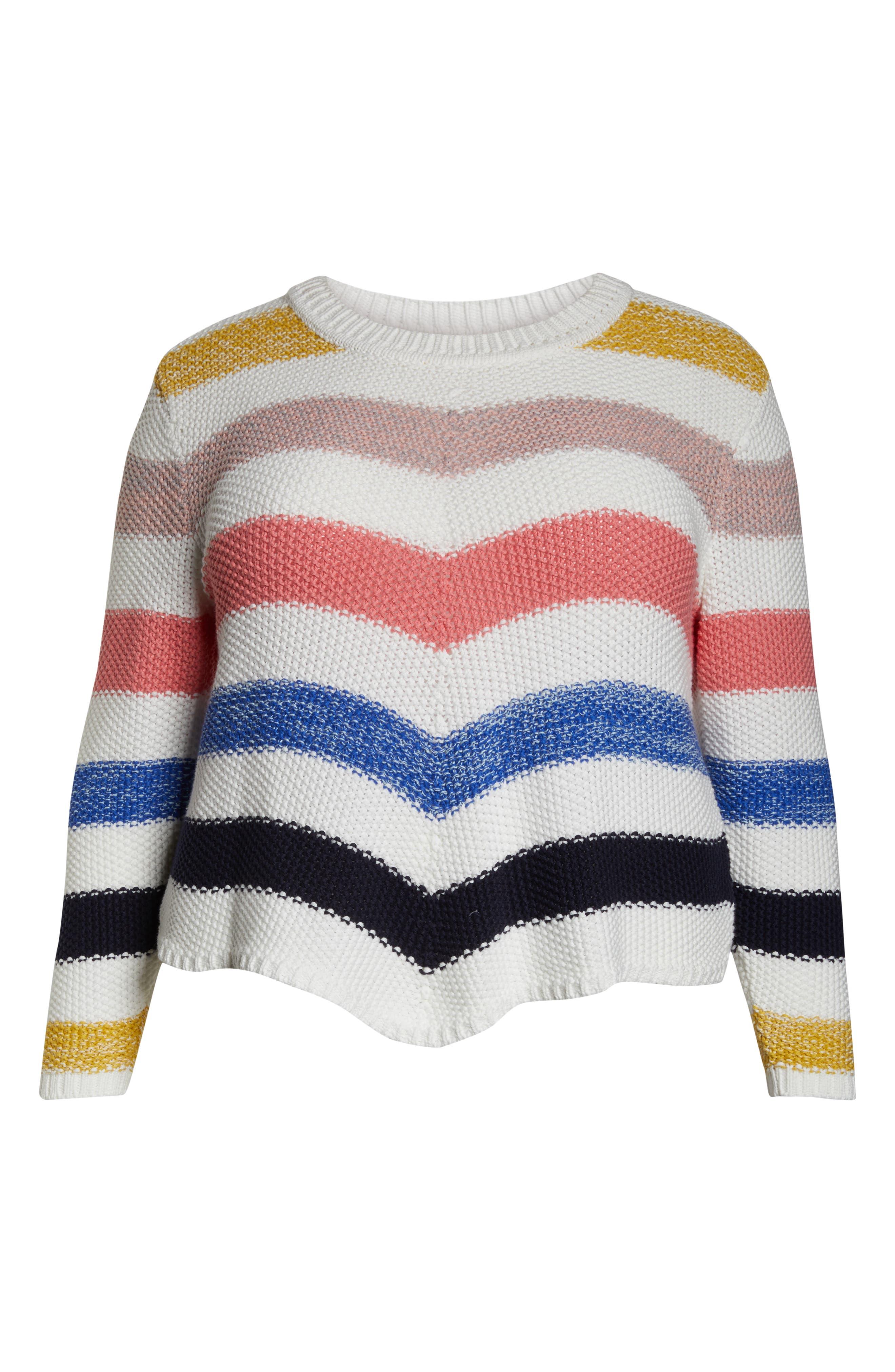 ,                             Stitch Stripe Sweater,                             Alternate thumbnail 12, color,                             901