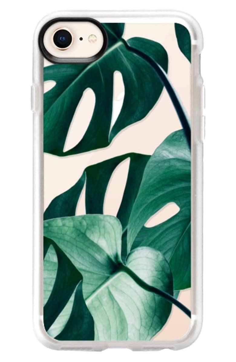CASETIFY Monstera iPhone 6/6S/7/8 and 6/6S/7/8 Plus Case, Main, color, GREEN