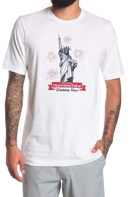 Image of TRAVIS MATHEW Super Patriot Graphic T-Shirt