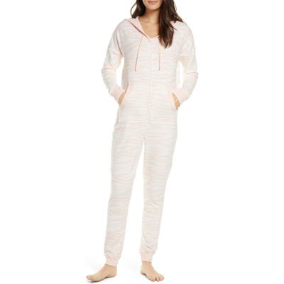Bp. Microfleece Hooded Jumpsuit Pajamas, Pink