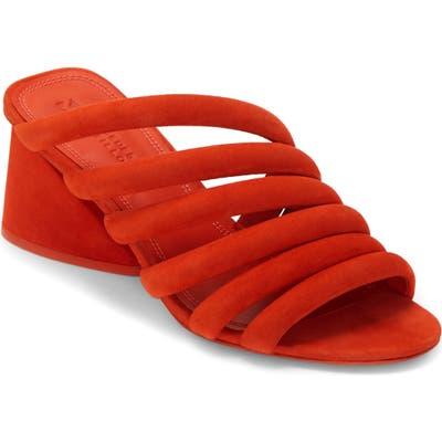 Mercedes Castillo Izzie Slide Sandal- Red