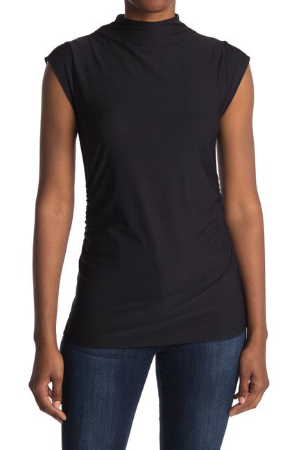 Image of 14th & Union Short Sleeve Side Ruched Tee