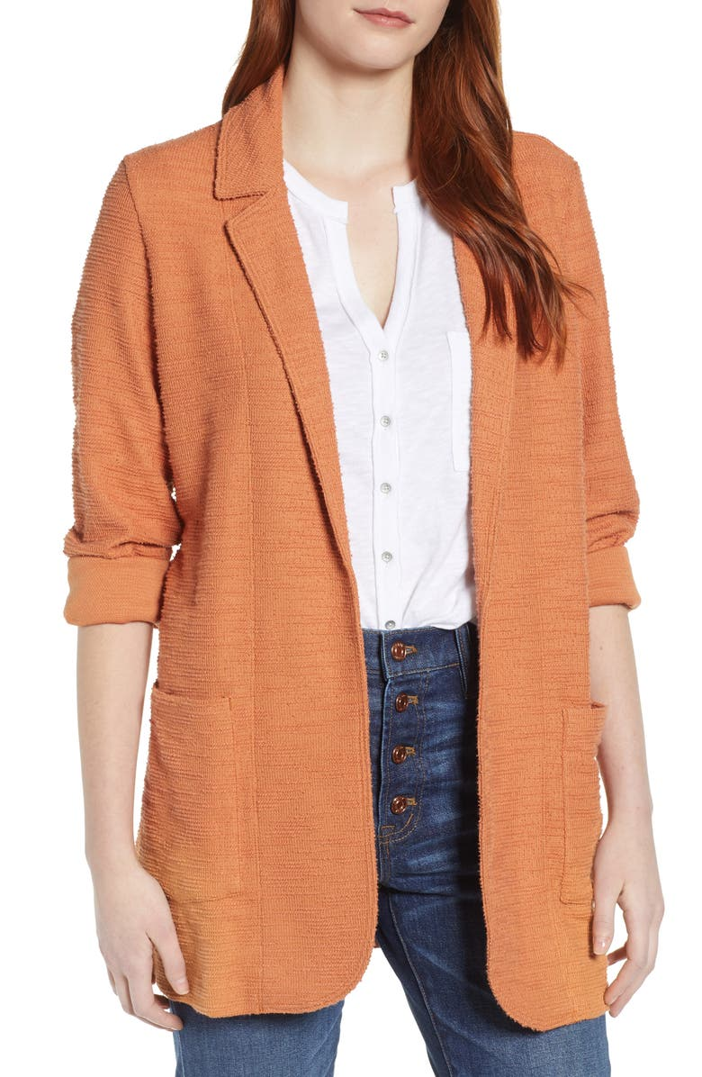 CASLON<SUP>®</SUP> Knit Boyfriend Blazer, Main, color, 230