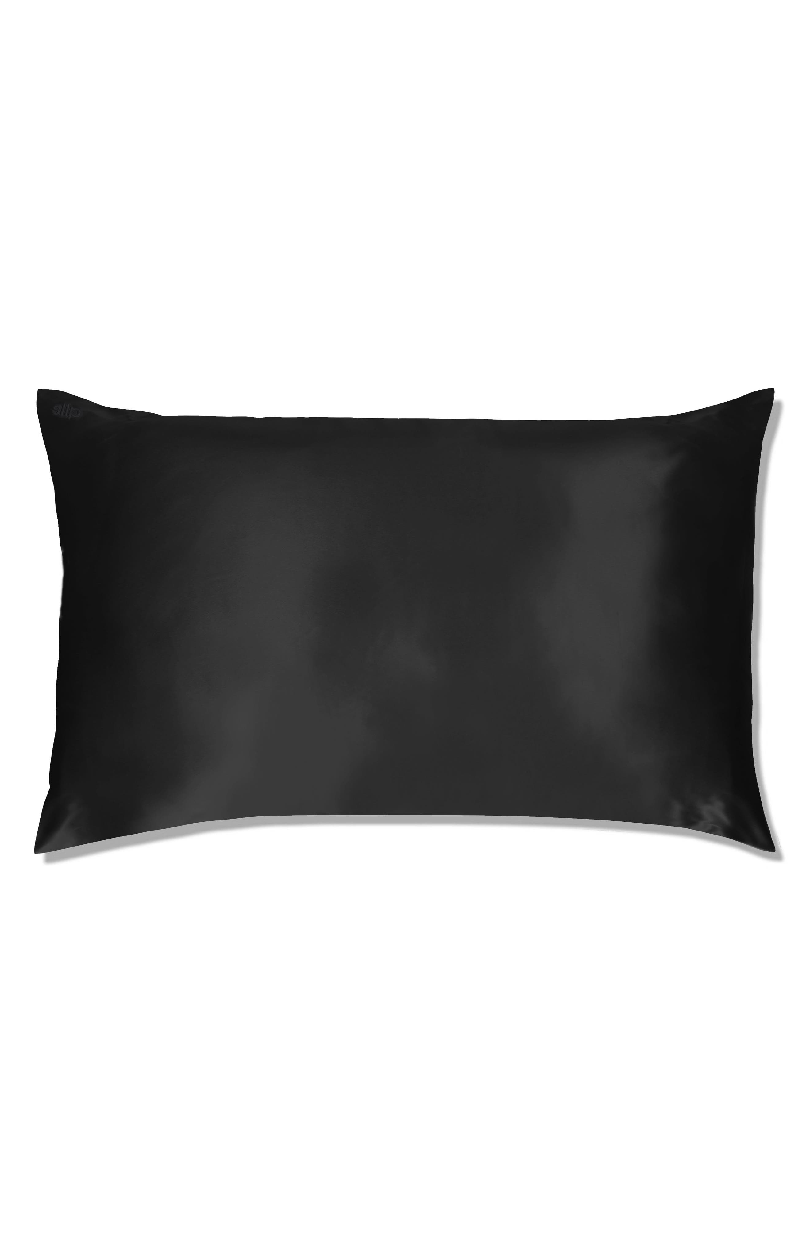 slip<sup>™</sup> for beauty sleep Slipsilk<sup>™</sup> Pure Silk Pillowcase, Main, color, BLACK