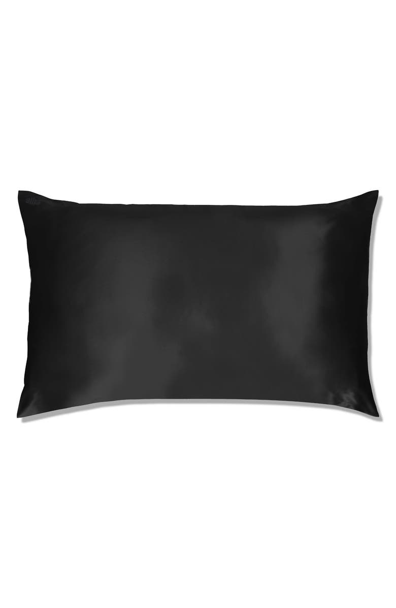 SLIP FOR BEAUTY SLEEP slip<sup>™</sup> for beauty sleep Slipsilk<sup>™</sup> Pure Silk Pillowcase, Main, color, BLACK