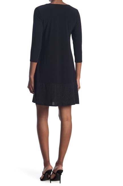 Image of TASH + SOPHIE Jersey Swing Glitter Hem Dress