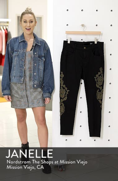 Embroidered Ankle Skinny Jeans, sales video thumbnail