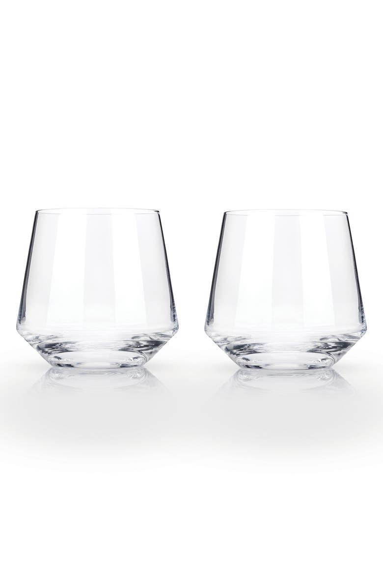 VISKI Raye Set of 2 Cocktail Tumblers, Main, color, 100