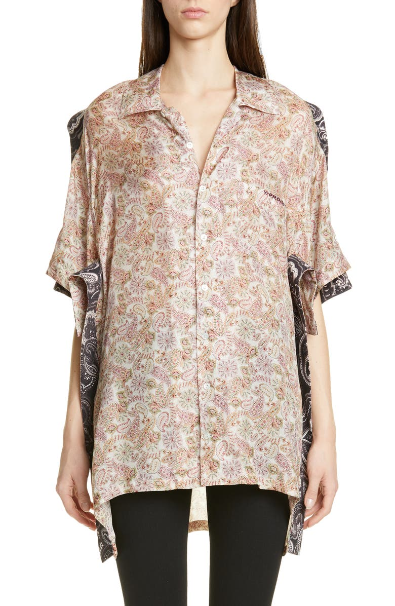 Y/PROJECT Button Front Bowling Shirt, Main, color, 650
