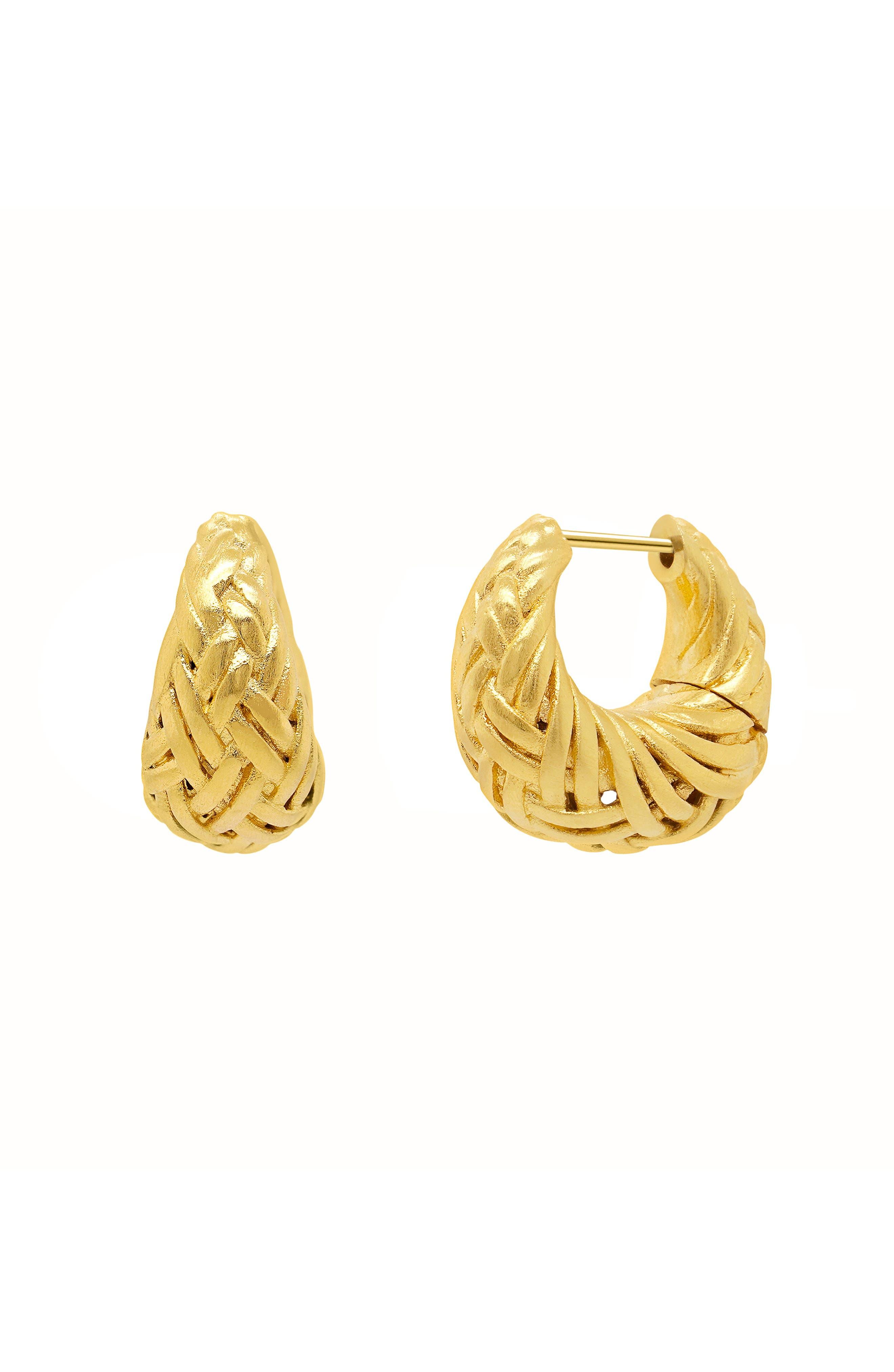 Weave Huggie Earring