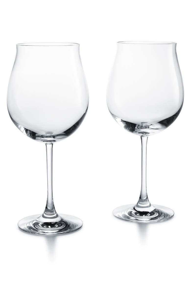 BACCARAT Grand Bourgogne Set of 2 Lead Crystal Wine Glasses, Main, color, CLEAR