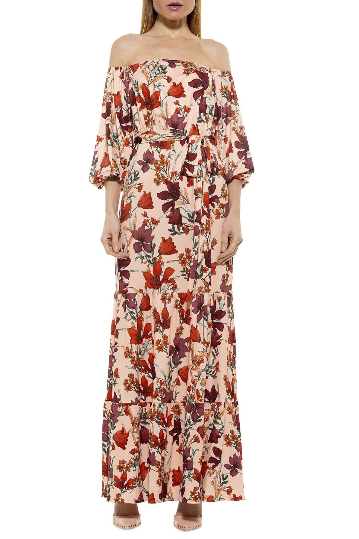 Image of Alexia Admor Calista Off-the-Shoulder Tiered Maxi Dress
