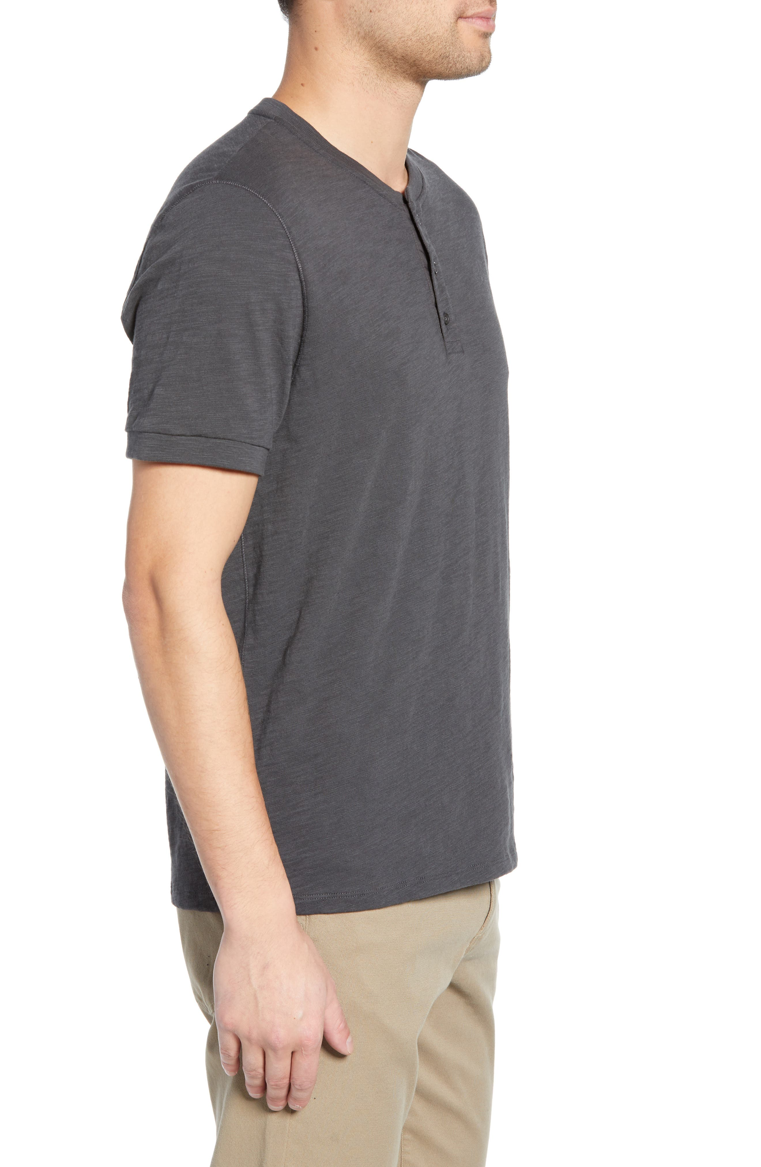 ,                             Slim Fit Slub Knit Henley,                             Alternate thumbnail 3, color,                             SPHERE