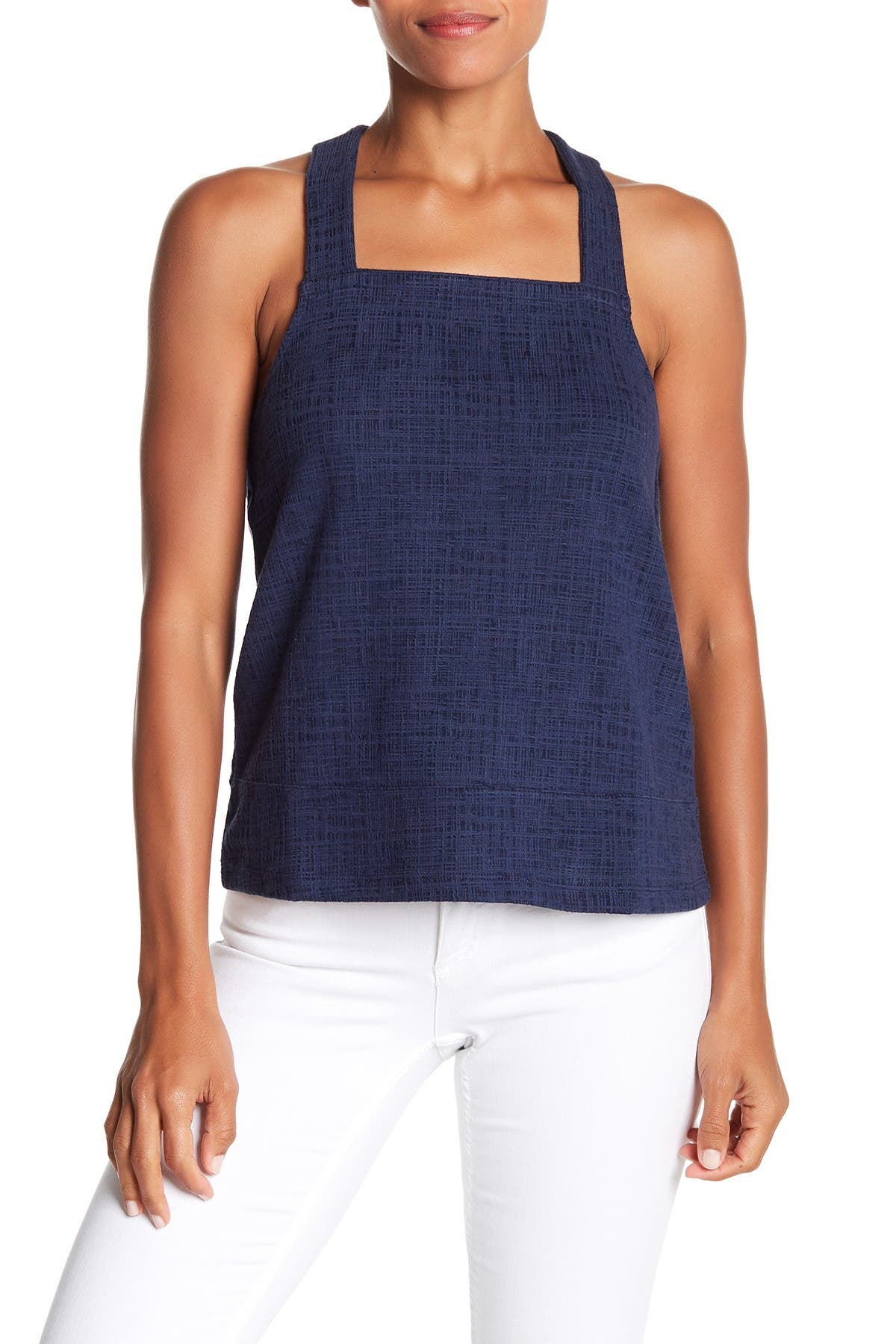 Image of Madewell Textured Knit Apron Tank Top