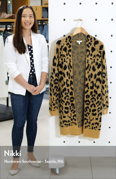 Long Leopard Jacquard Cardigan, sales video thumbnail