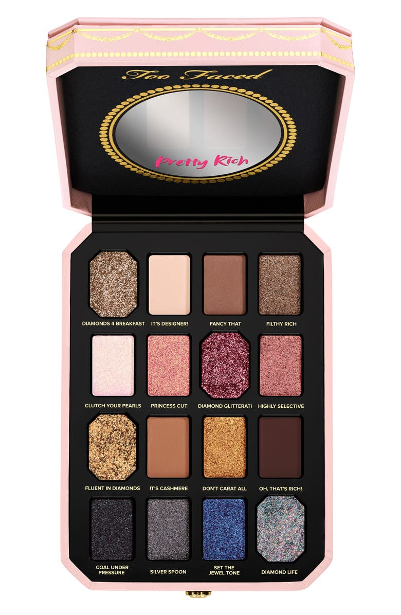 TOO FACED Pretty Rich Diamond Light Eyeshadow Palette, Main, color, NO COLOR