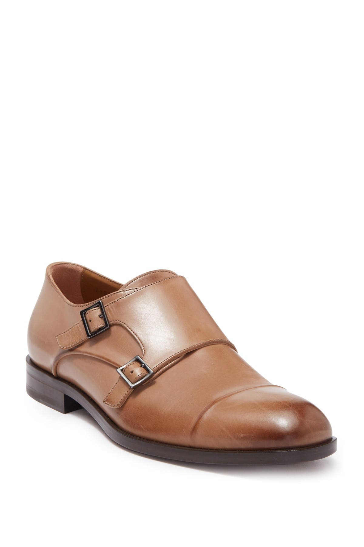 Image of BOSS Stanford Leather Monk Strap Loafer