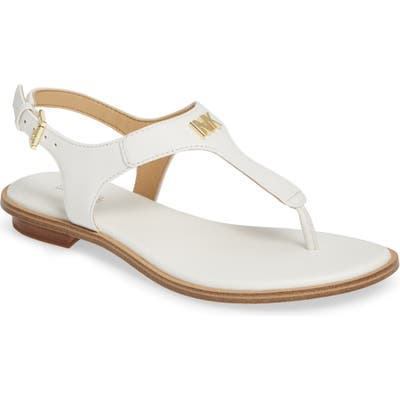 Michael Michael Kors Melanie T-Strap Sandal, White