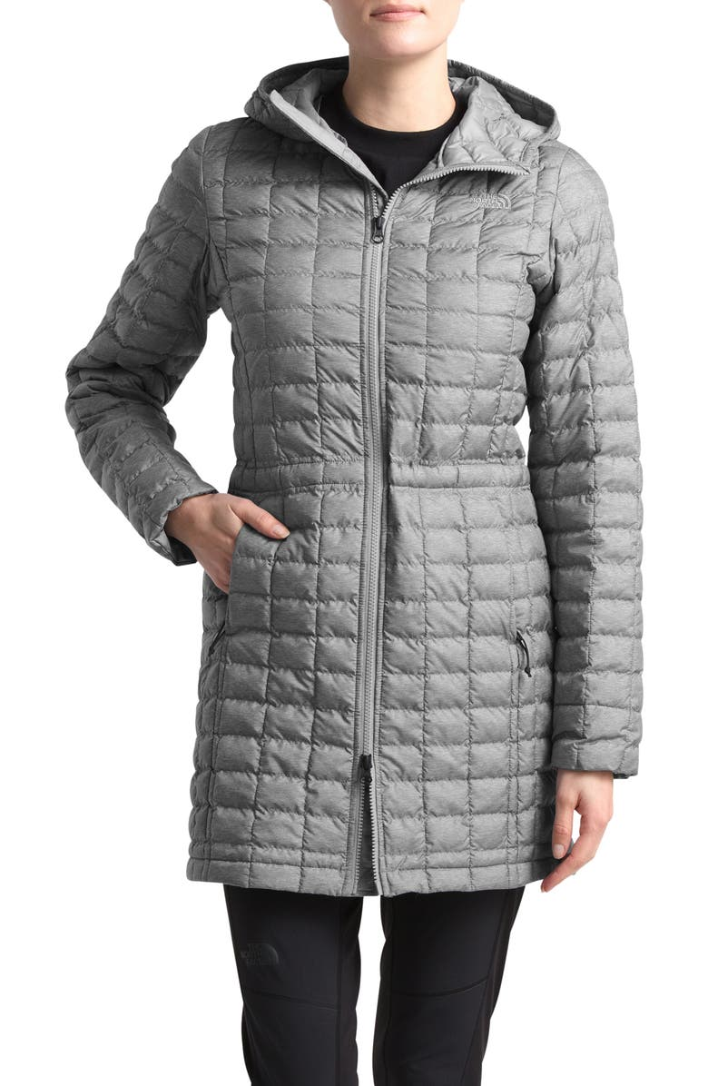 THE NORTH FACE ThermoBall<sup>™</sup> Eco Hooded Parka, Main, color, TNF MEDIUM GREY HEATHER