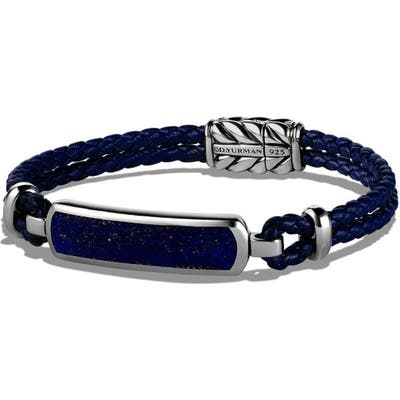 David Yurman Bar Station Leather Bracelet
