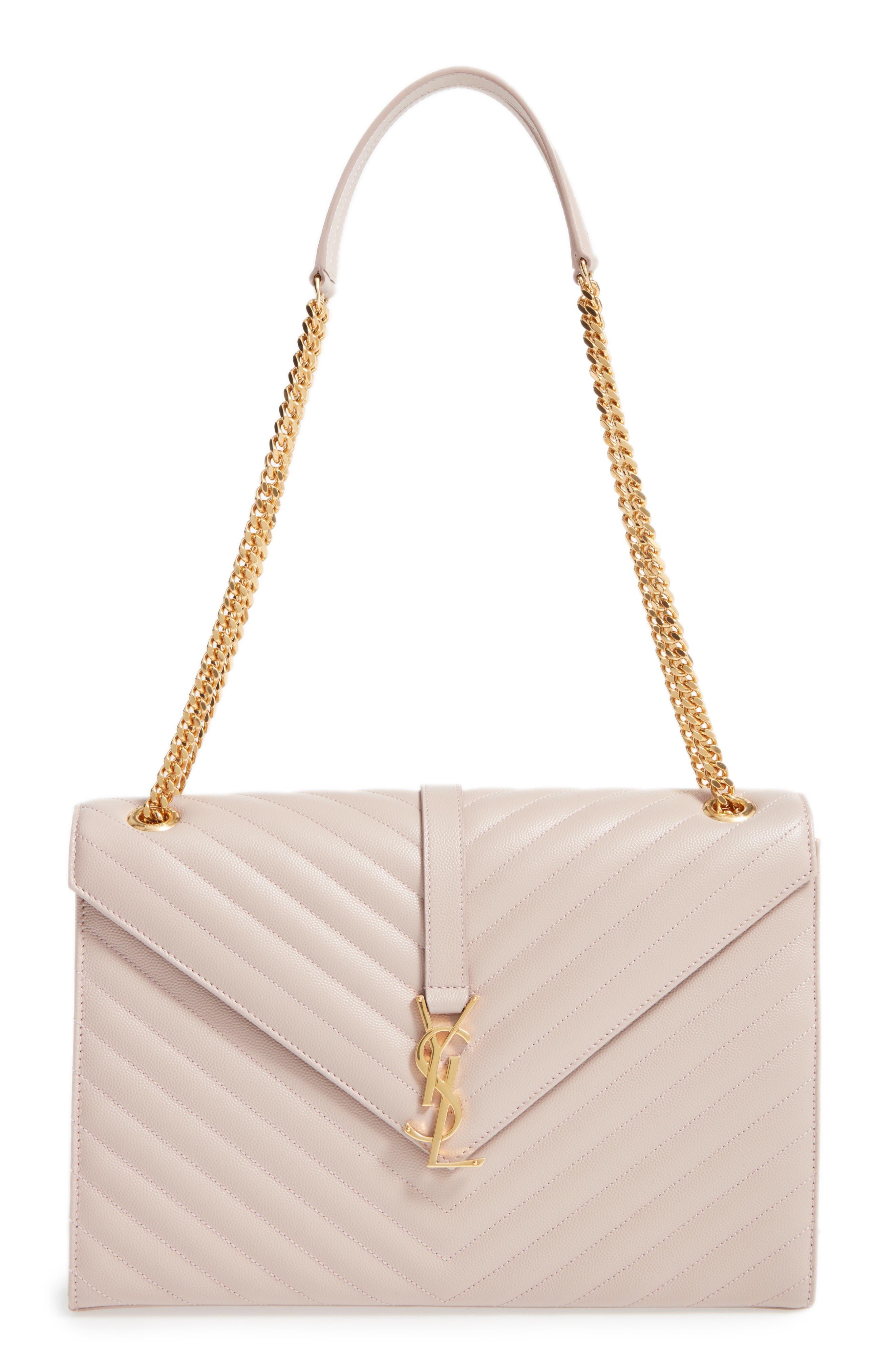 ,                             'Large Monogram' Grained Leather Shoulder Bag,                             Main thumbnail 42, color,                             657