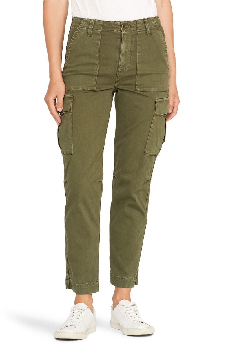 HUDSON JEANS Classic High Waist Cargo Pants, Main, color, WASHED TROOP